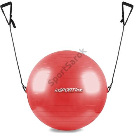 Gimnasztikai labda fogantyúval, piros, 55 cm INSPORTLINE-Sportsarok