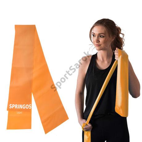 Erősítő gumiszalag, narancs SPRINGOS LIGHT-Sportsarok