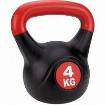 Füles súlyzó - Kettlebell, műanyag, 4 kg SPARTAN - SportSarok