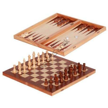 Fa sakk + Backgammon közepes